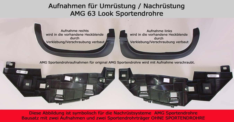 Aufnahmen für AMG Endrohr Typ 91-3 l&r