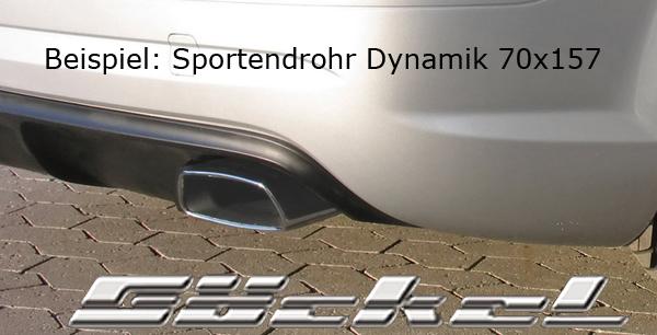 Sport-Endsrohr goeckel dynamik edelstahl