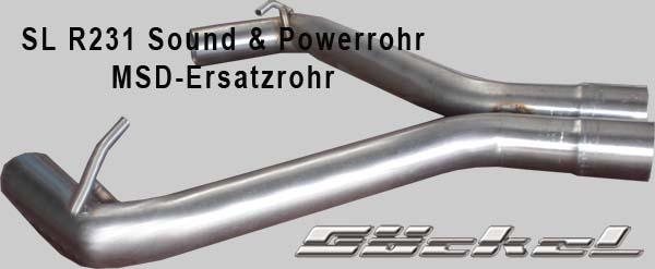 Sportauspuff Power & Sound Ersatzrohr SL R231
