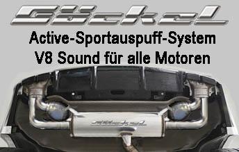 Sound mit Soundaktuator, Active Sportauspuff Sound System, Sound wie V8 Mercedes Benz
