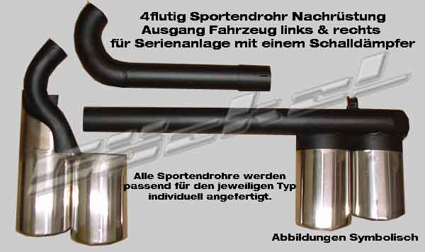 Duplex Sport Endrohr 2xlinks 2xrechts