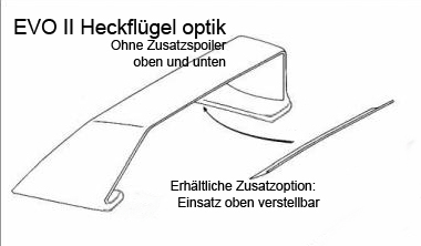 EVO II Heckflügel optik 190er W201