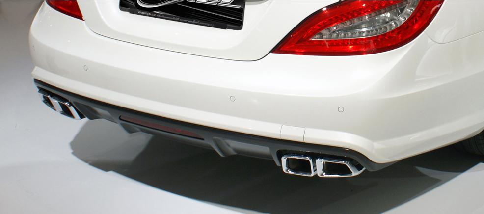 CLS W218 AMG, AMG63, Sport Endrohr, Auspuff, Mittelschalldämpfer, Klappenauspuff, Ersatzrohr goeckel automobilveredelung