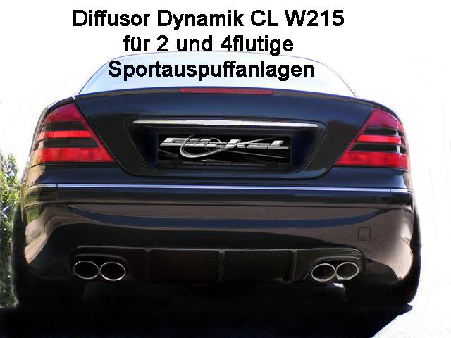 CL W215 Diffusor, Heckblende, AMG, Stoßstange, Goeckel Performance