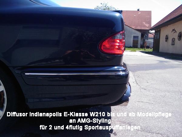 E-Klasse w210 AMG Diffusor Indianapolis