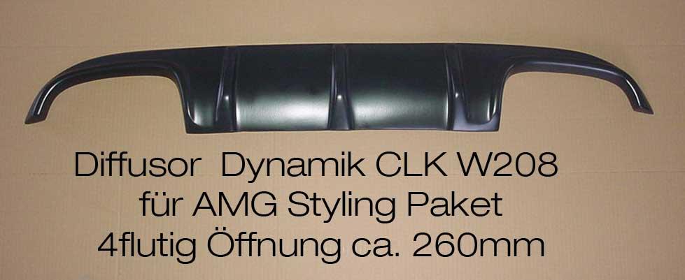 CLk W208 Diffusor Dynamik