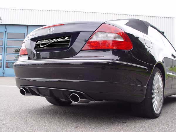Diffussor Mercedes CLK W209 Serienstoßstange