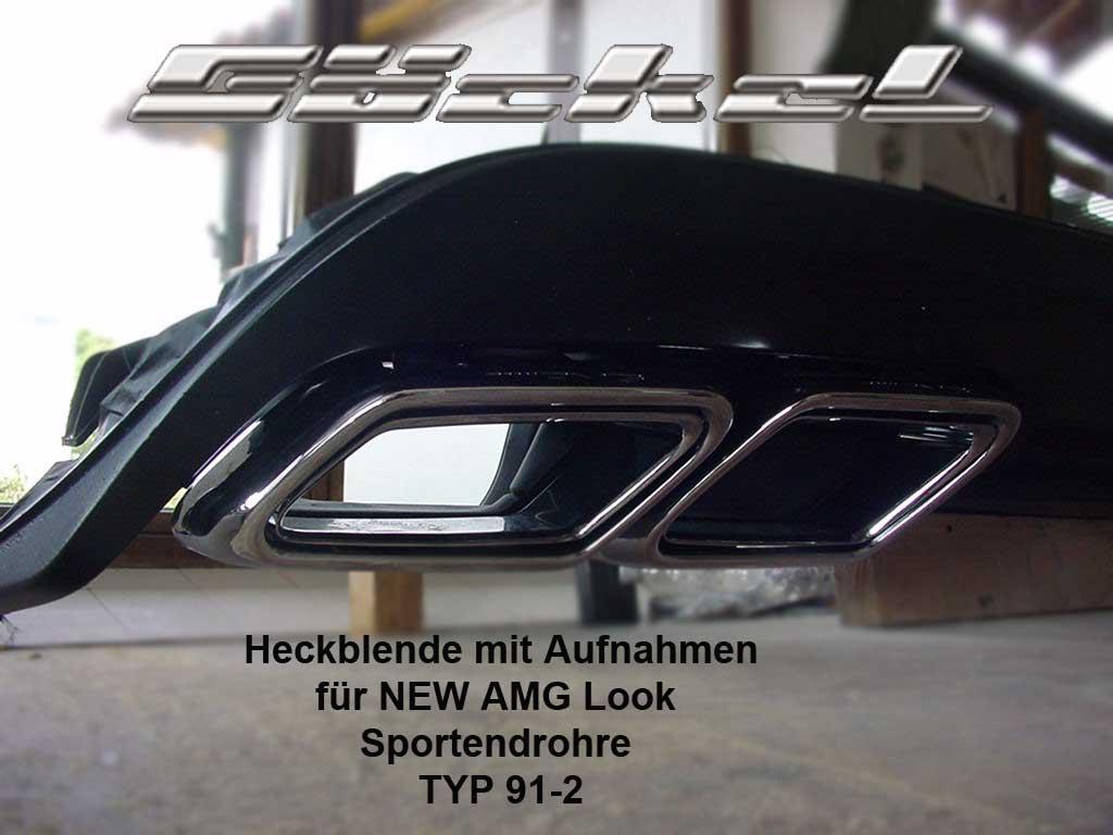E-A207, E-C207, E-W207, Diffusor, Sportendrohr, Sportauspuff, Heckblende, Goeckel Perfromance
