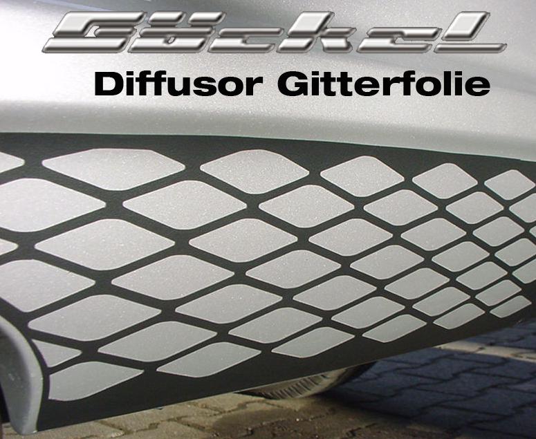 ALU Gitter Design aus Folie