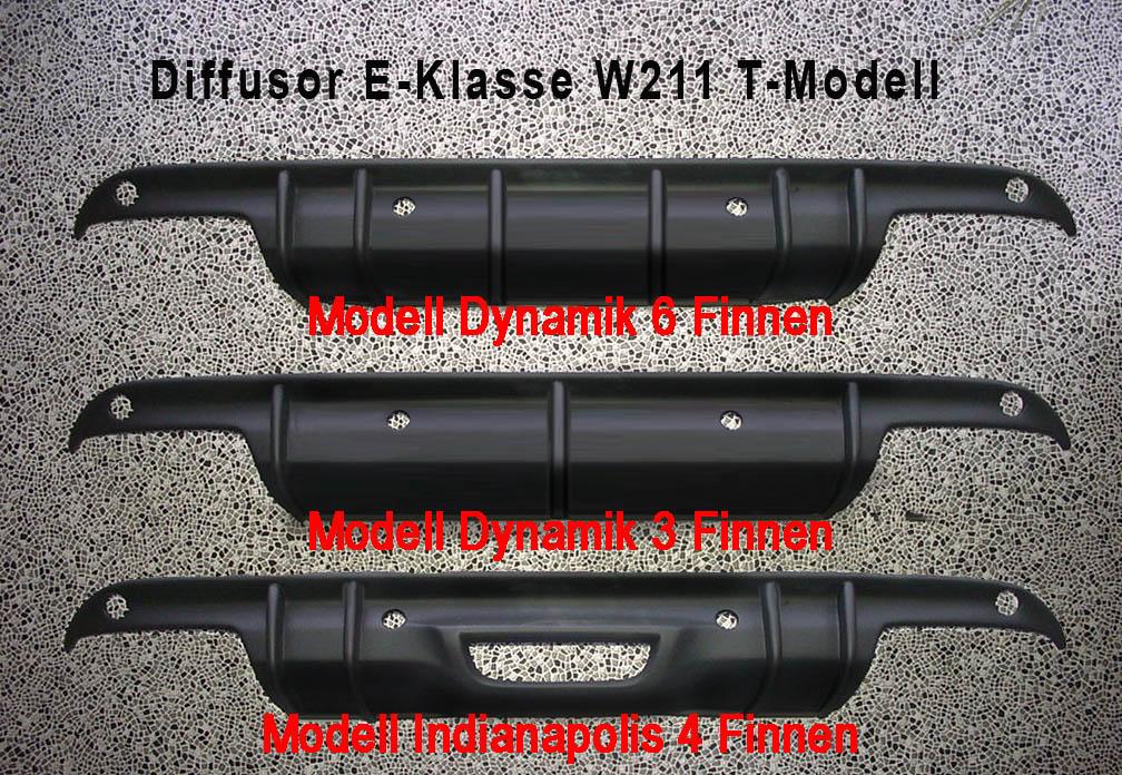 E-Klasse W211, S211 Diffusor  Göckel
