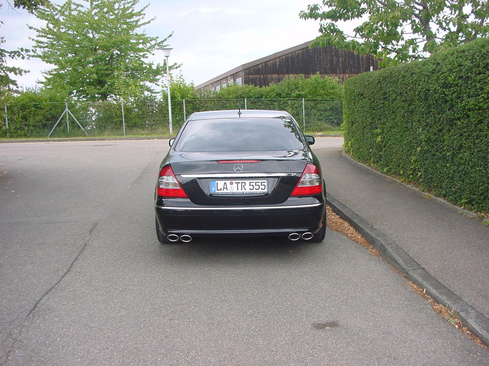E-Klasse W211 Auspuff Sportauspuff Endrohre Sportendrohre Göckel