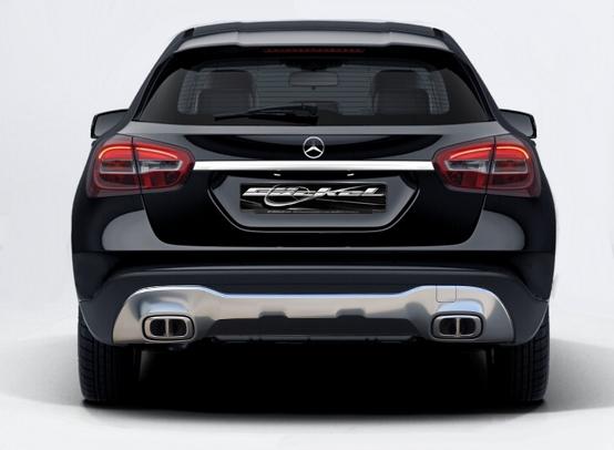 Sport Endrohr Auspuff GLA X156 Facelift