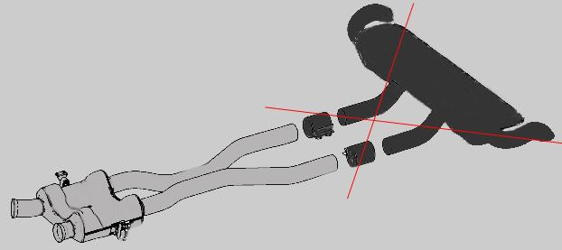 GLS X166 Sport Mittelschalldämpfer