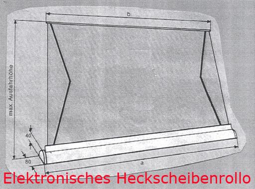elektronisches heckscheibenrollo