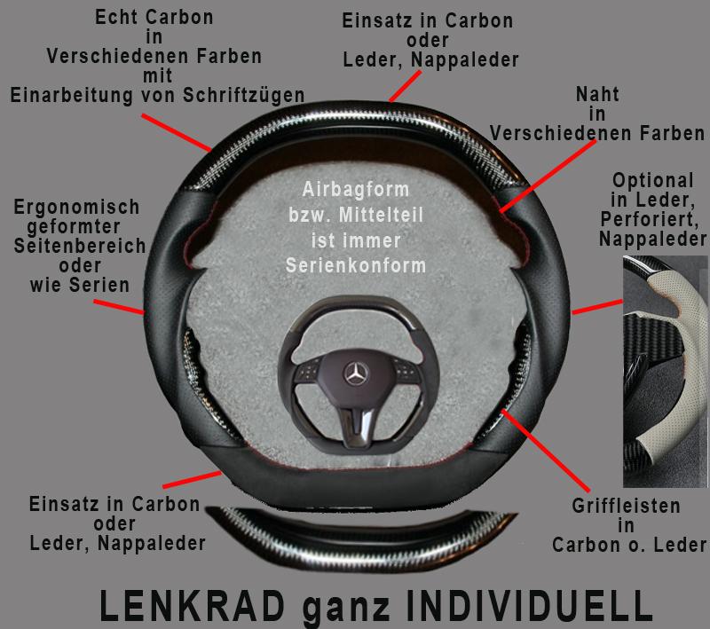 Sport Lenkrad Mercedes individuell