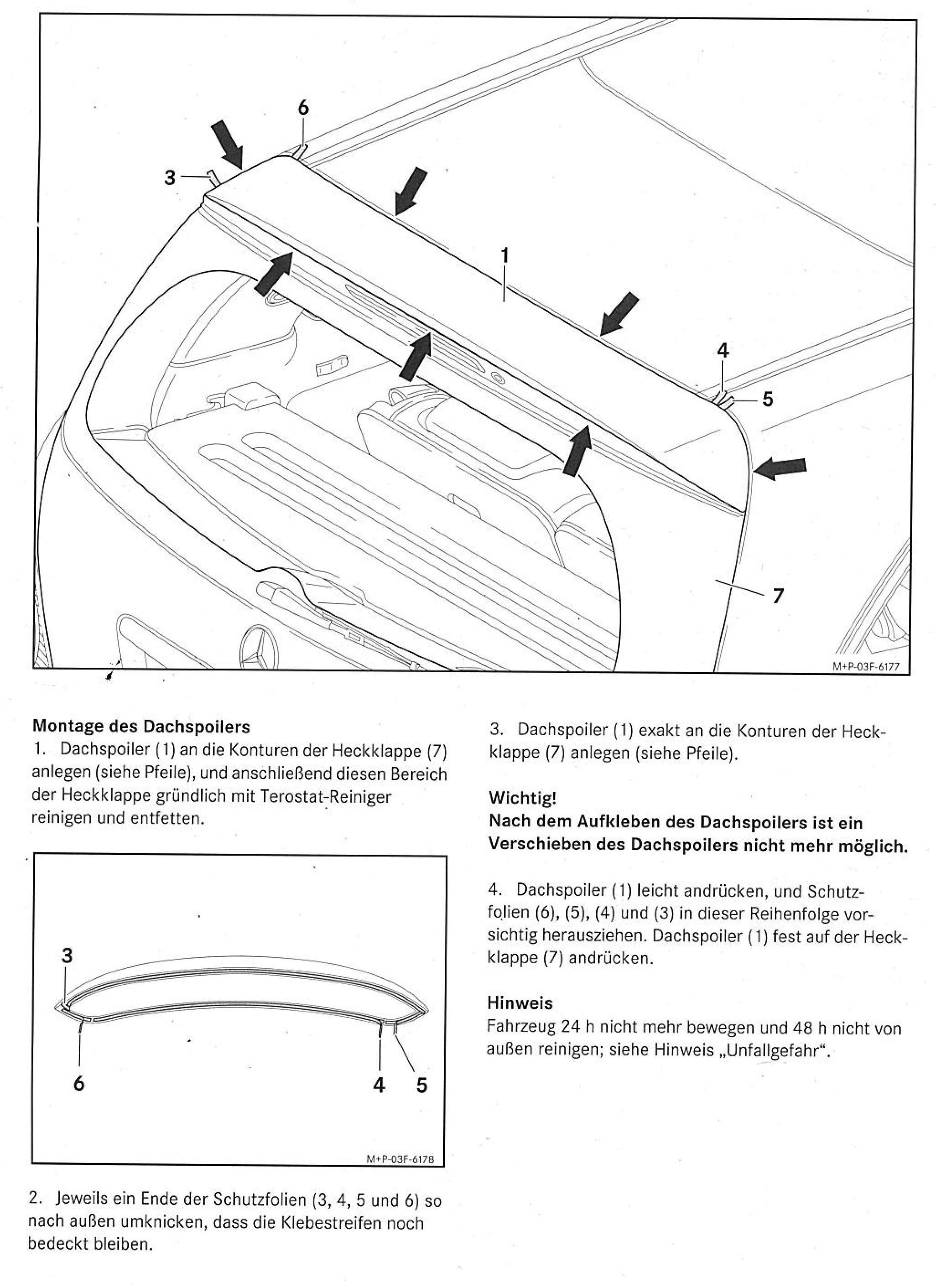 R-Klasse w251 Dachspoiler Mercedes