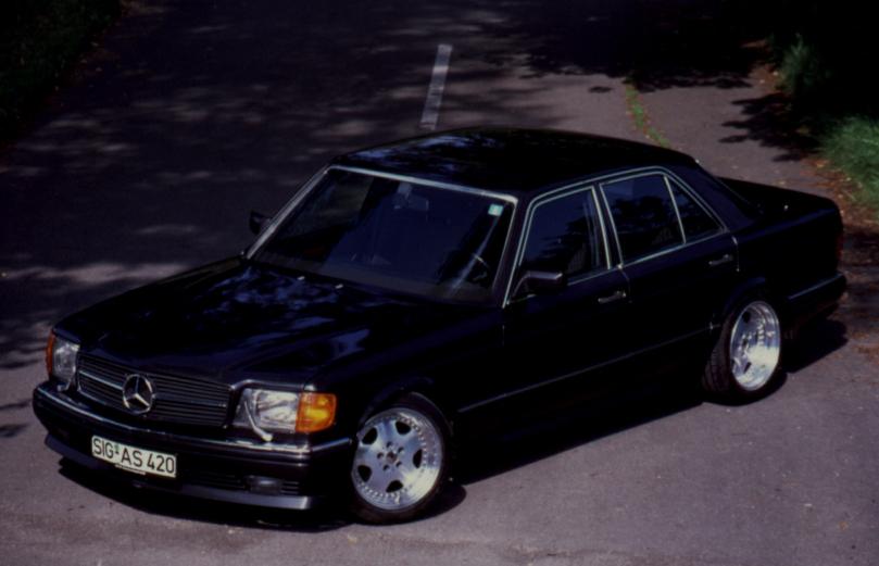 S-Klasse W126 Sportmotorhaube SEC Look