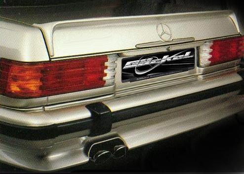 Heckschürze Verkleidung spoiler SL R107 W107 C107 AMG-Look Goeckel