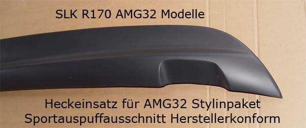 Heckstoßstange Einsatz  slk r170 AMG 32  Göckel