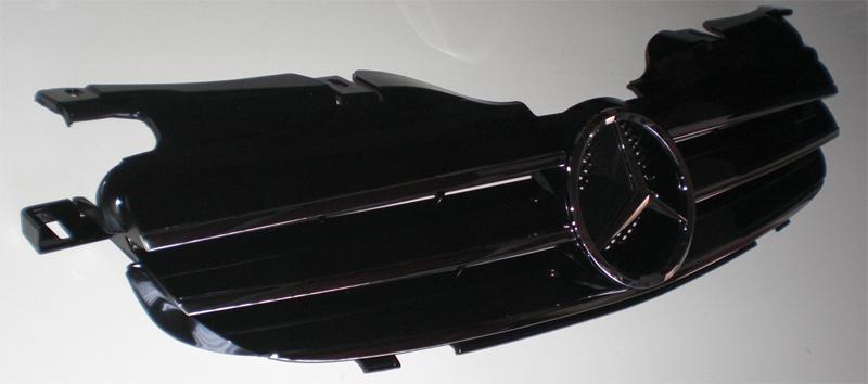 Grill Sport Kühlergrill für Mercedes R170 SLK Matt Schwarz CL AMG OPTIK