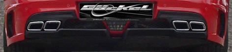 SLS C197 Diffusor mit NEW AMG Look Sportendrohren auch in  Echt Carbon