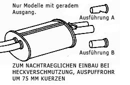 Sportendrohrblenden SL R107 C107 W107