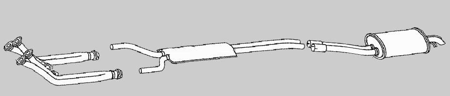 SL R107 C107 W107 Auspuff  Anlage