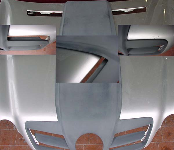 SLR Sportmotorhaube C-Klasse W203 Umbau