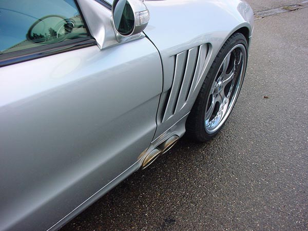 Mercedes Side Pipe SL R230 Göckel SLR Umbau