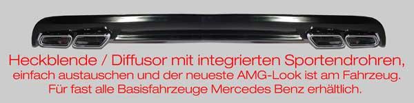 AMG Sportendrohre System für fast alle Mercedes Benz Modelle
