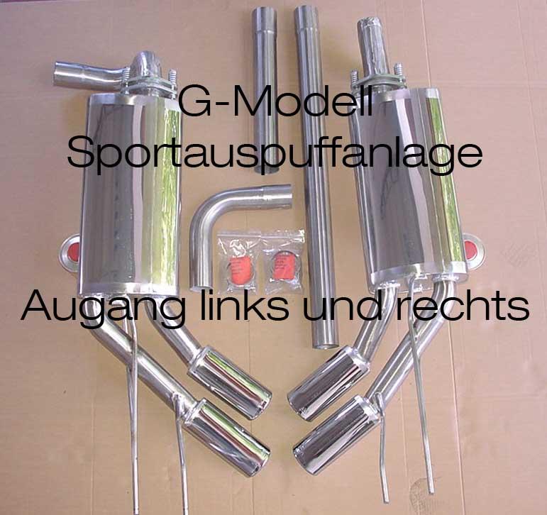 Endrohr Mercedes G Modell G Klasse 460 461 Wolf Auspuff Schalldämpfer