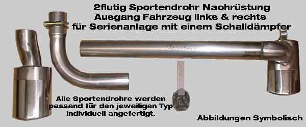 Auspuff hinten Endtopf Endschalldämpfer Mercedes 190 W201 D 2.5 90 94 PS 66 69KW