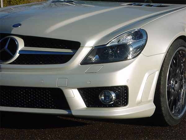 Mercedes SL R230 Modellpflege Aerodynamik, Motorhauben, Front-Heckspoiler, Seitenschweller
