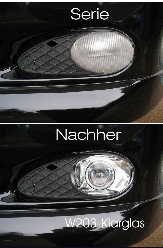 Scheinwerfer Mercedes W C Klasse Klarglas